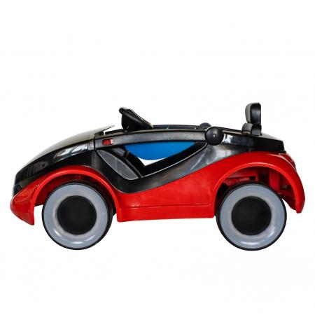 Masinuta electrica cu lumini LED pentru copii, telecomanda, player muzica USB si lumini, culoare rosu [7]