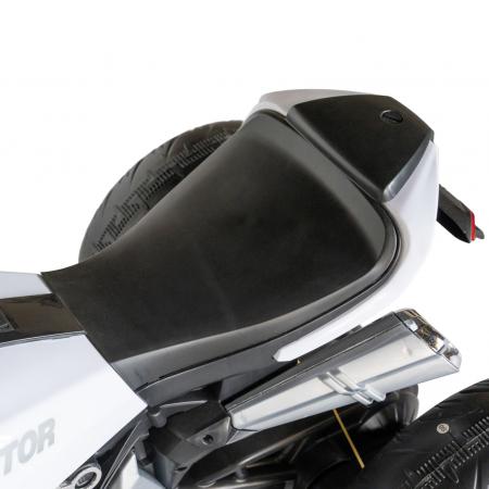 Motocicleta electrica copii Rich Baby cu acumulator, muzica si lumini, culoare alb/negru [10]