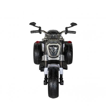 Motocicleta electrica copii Rich Baby cu acumulator, muzica si lumini, culoare alb/negru [2]