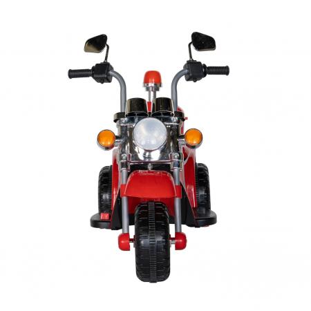 Motocicleta electrica copii Rich Baby cu acumulator, muzica si lumini, culoare rosu [2]