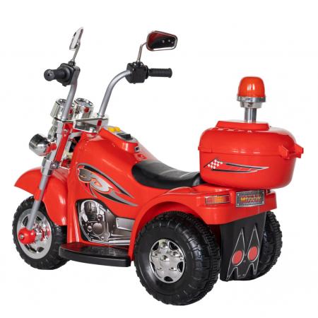 Motocicleta electrica copii Rich Baby cu acumulator, muzica si lumini, culoare rosu [4]