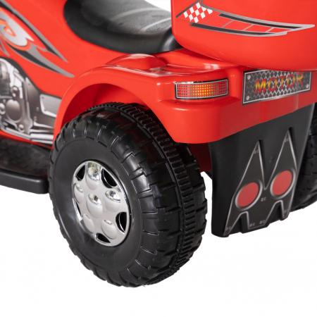 Motocicleta electrica copii Rich Baby cu acumulator, muzica si lumini, culoare rosu [5]