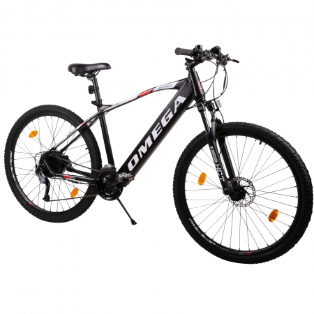 "Bicicleta electrica Omega Kerwin 29"" negru/portocaliu/alb [1]"