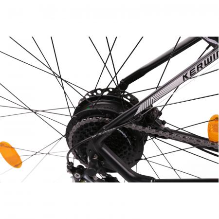 "Bicicleta electrica Omega Kerwin 29"" negru/portocaliu/alb [7]"