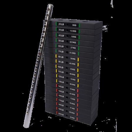 Set greutati tip stiva 90 kg pentru aparate Powertec [0]