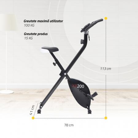 Bicicleta magnetica fitness verticala Techfit XBIKE [4]