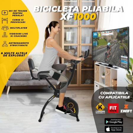 Bicicleta magnetica fitness pliabila Progressive XF100 [2]