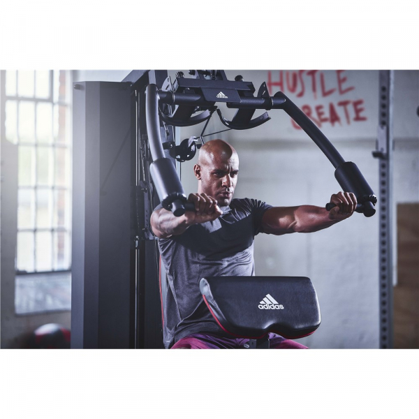 Aparat Multifunctional Adidas, bloc greutati 100 kg, 4 posturi de lucru 2