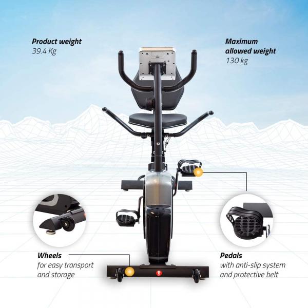 Bicicleta fitness orizontala Techfit R470 [3]