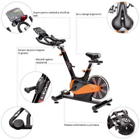 Bicicleta indoor cycling HMS SW2100 Premium 9