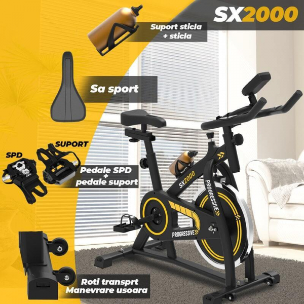 Bicicleta indoor cycling SX2000 Progressive 2