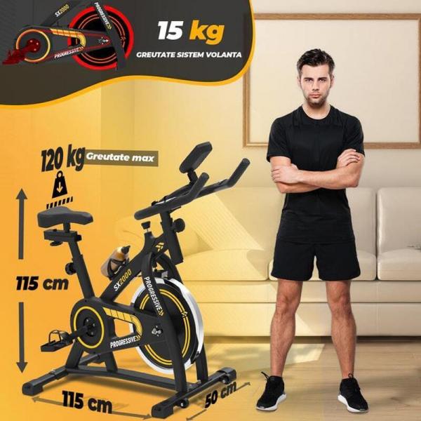 Bicicleta indoor cycling SX2000 Progressive 3