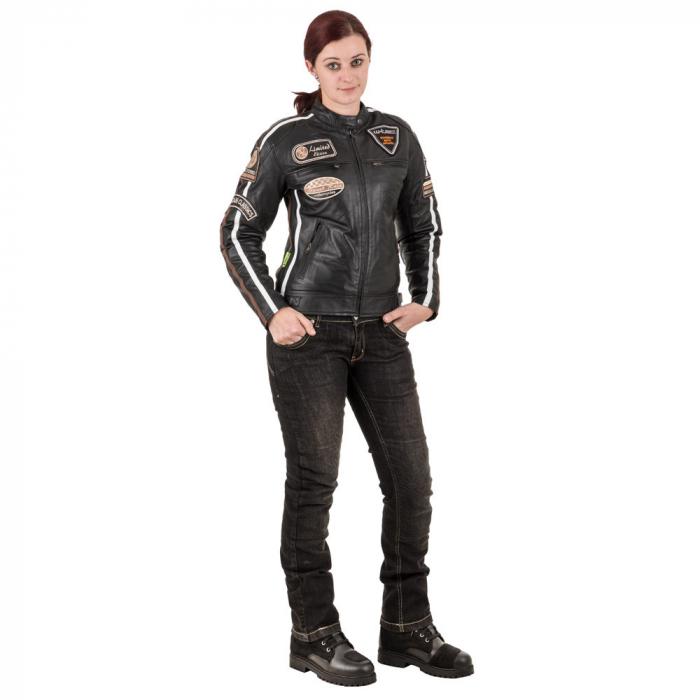 Geaca Moto Femei Piele W-TEC Sheawen [2]