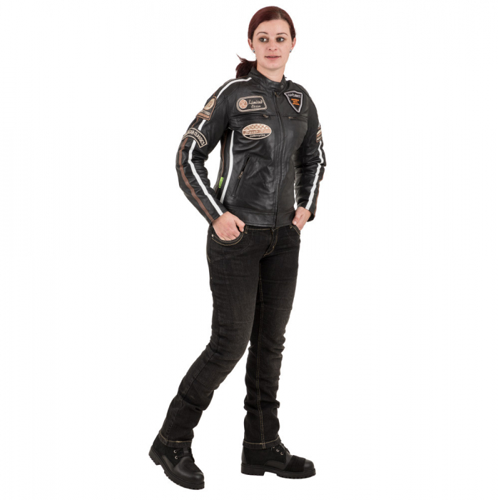 Geaca Moto Femei Piele W-TEC Sheawen [3]