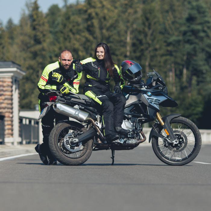 Geaca Moto Femei W-TEC Ventura Negru/Galben Florescent [3]