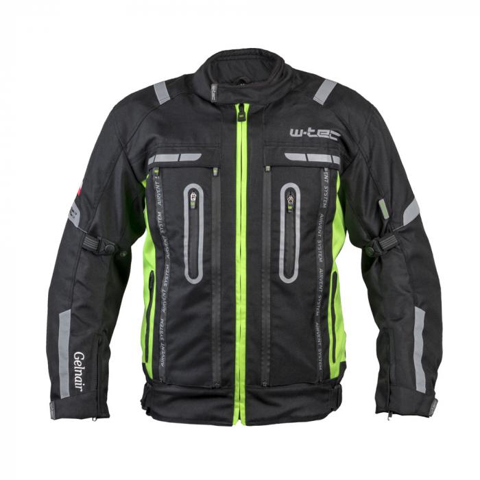 Geaca Moto W-TEC Gelnair - Negru/Verde [7]