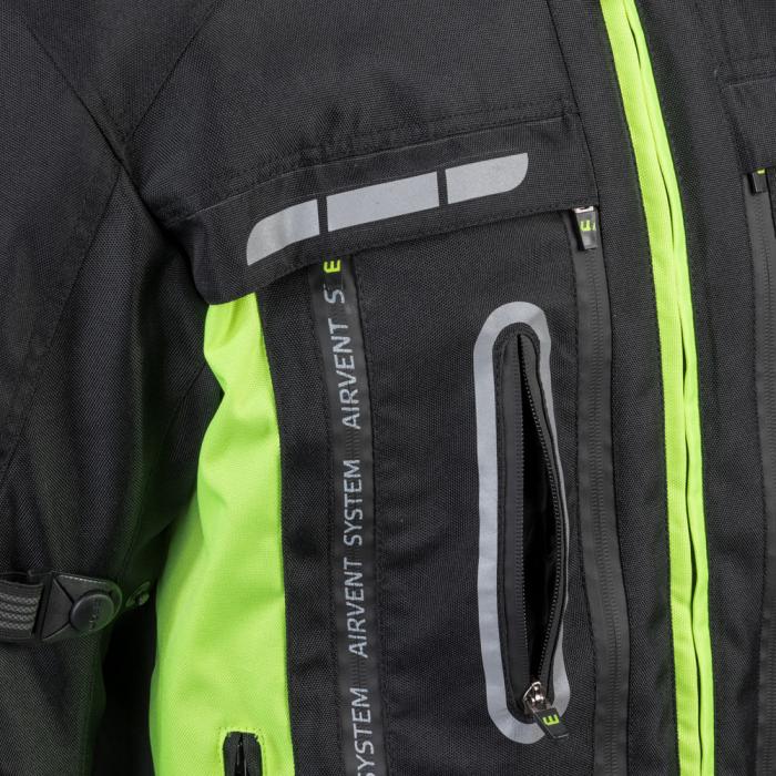 Geaca Moto W-TEC Gelnair - Negru/Verde [5]