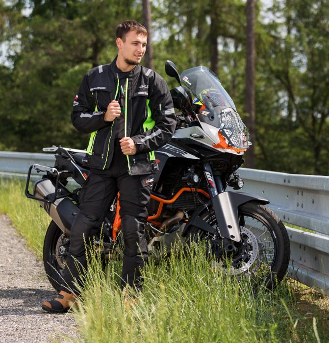 Geaca Moto W-TEC Gelnair - Negru/Verde [3]