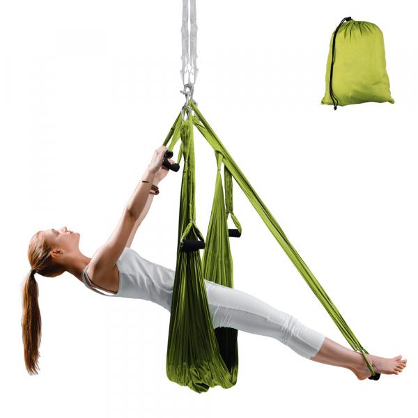 Hamac Aero Yoga inSPORTline Hemmok, verde [0]