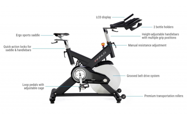 Bicicleta indoor cycling CRS3 Finnlo by Hammer 8