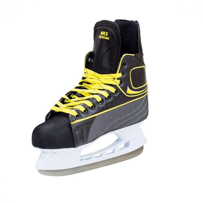NIls Patine hockey negru/galben NH8556S [2]