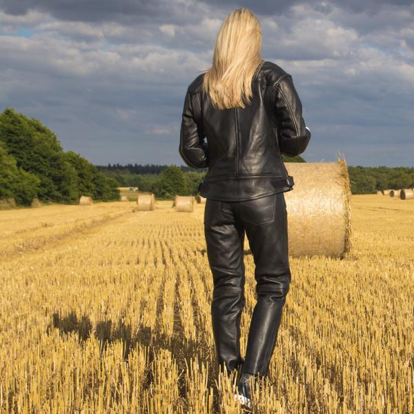 Pantaloni Moto Femei Piele W-TEC Annkra NF-1250 [7]