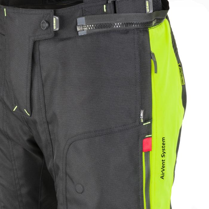 Pantaloni Moto Femei W-Tec Spiritual Lady Negru/Galben Florescent [3]