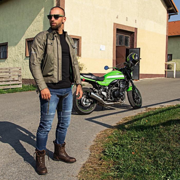 Pantaloni Moto Jeans Barbati W-TEC Grandus [0]
