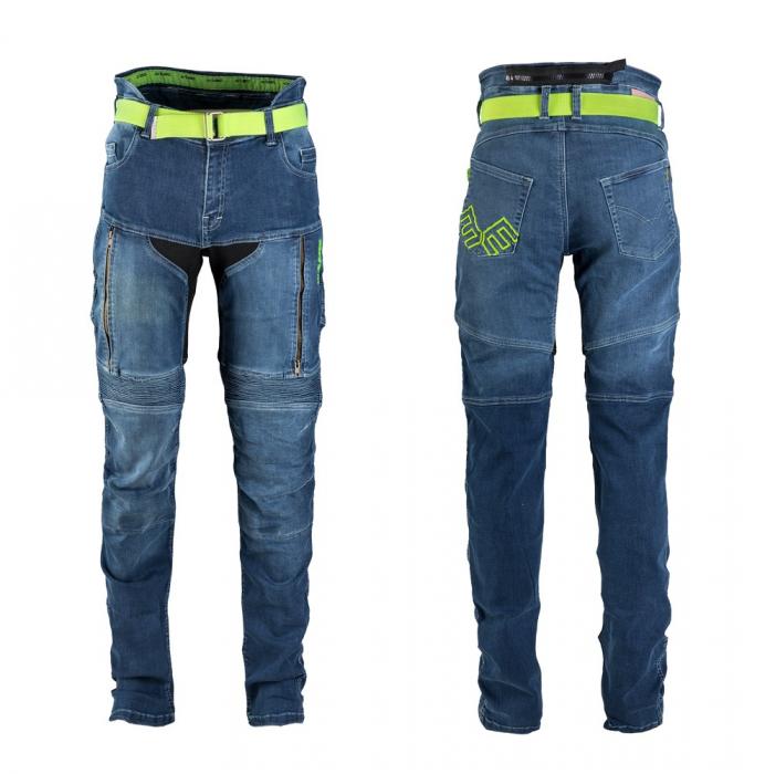 Pantaloni Moto Jeans Barbati W-TEC Grandus [13]