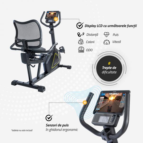 Bicicleta fitness orizontala R500 Techfit [5]