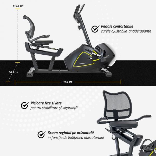 Bicicleta fitness orizontala R500 Techfit [7]