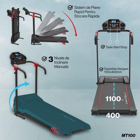 Banda de alergare motorizata MT100 TECHFIT 8