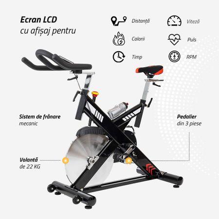 Bicicleta indoor cycling SBK400 Techfit 1