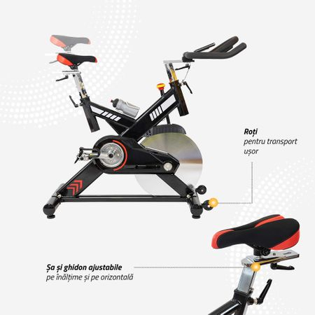 Bicicleta indoor cycling SBK400 Techfit 4