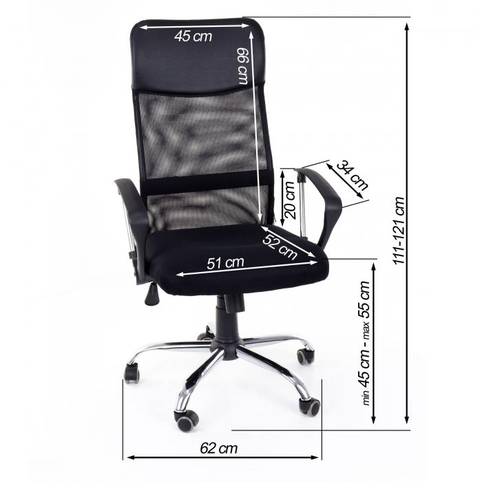 Scaun birou ergonomic Sportmann 2501-negru [0]
