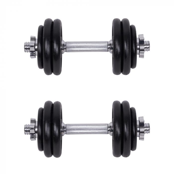 Set Gantere si Haltere cu Valiza inSPORTline 50 kg [2]
