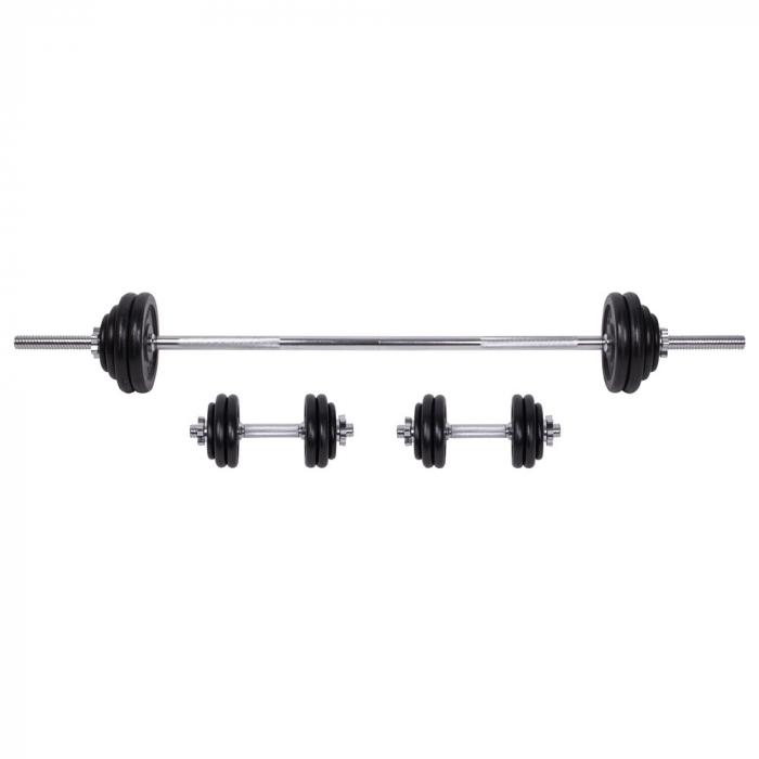 Set Gantere si Haltere cu Valiza inSPORTline 50 kg [0]