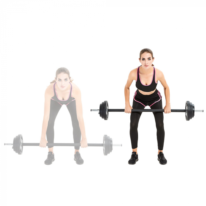 Set Haltera + Greutati inSPORTline Pumpstar 2 – 20kg 1