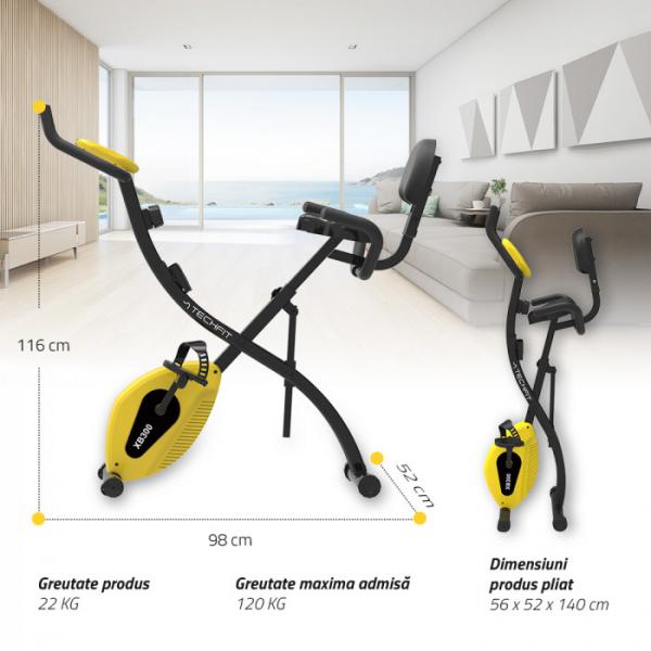 Bicicleta fitness pliabila XB300 2