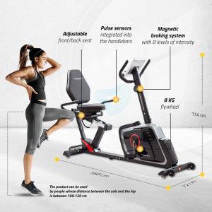 Bicicleta fitness orizontala Techfit R470 [4]
