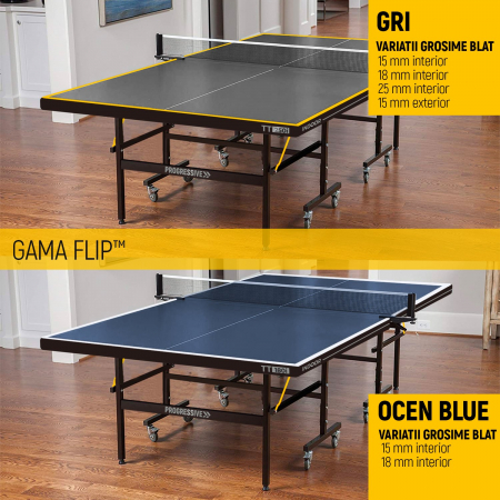 Masa ping pong PROGRESSIVE Flip TT 180i OCEAN BLUE [9]