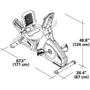 Bicicleta fitness orizontala semi-profesionala R628 Nautilus [5]