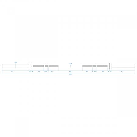 Bara halterea olimpica HMS GO450 220cm/50mm [6]