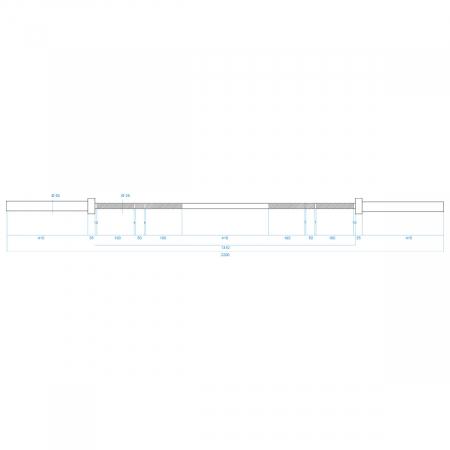 Bara Olimpica HMS Premium GO900 220 cm + 2 sigurante [6]