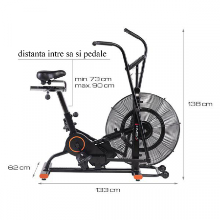 Bicicleta Fitness HMS MP6548 AIR BIKE [7]