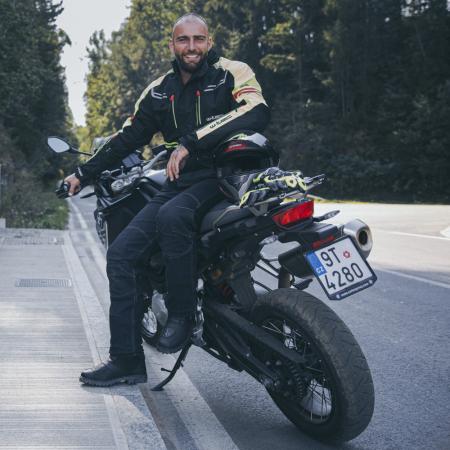 Geaca Moto Barbati W-Tec Ventura Negru/Galben Florescent [14]