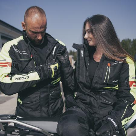 Geaca Moto Barbati W-Tec Ventura Negru/Galben Florescent [10]
