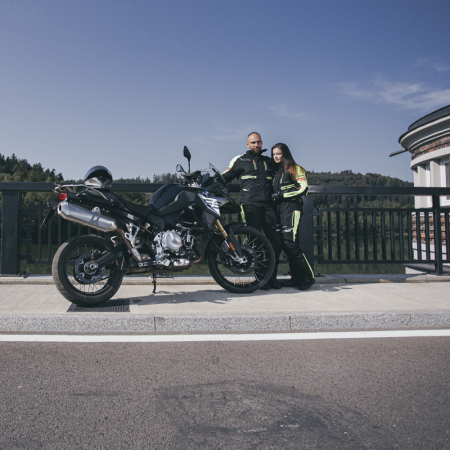 Geaca Moto Femei W-TEC Ventura Negru/Galben Florescent [5]