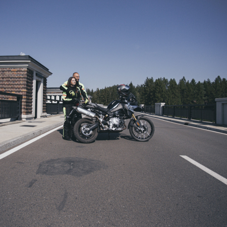 Geaca Moto Femei W-TEC Ventura Negru/Galben Florescent [4]