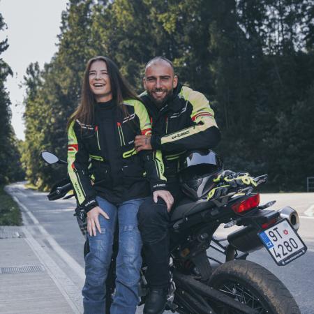 Geaca Moto Femei W-TEC Ventura Negru/Galben Florescent [6]